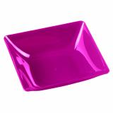10 x  6 Fingerfood - Teller, PS eckig 2,5 cm x 8,5 cm x 9,5 cm lila Fluid