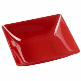 10 x  6 Fingerfood - Teller, PS eckig 2,5 cm x 8,5 cm x 9,5 cm rot Fluid