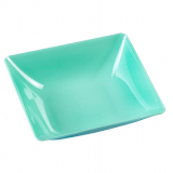 10 x  6 Fingerfood - Teller, PS eckig 2,5 cm x 8,5 cm x 9,5 cm seegrün Fluid
