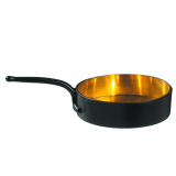 10 x  24 Fingerfood - Becher, PS 30 ml Ø 5,5 cm · 1,5 cm x 9,5 cm schwarz/gold Escoffier