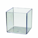100 Fingerfood - Becher, PS eckig 820 ml 10 cm x 10 cm x 10 cm glasklar Cube