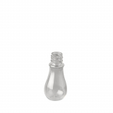 300 Mini-Flaschen, PET rund 25 ml Ø 3 cm · 7 cm glasklar