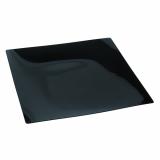 10 x  10 Fingerfood - Teller, PS eckig 1,3 cm x 16 cm x 16 cm schwarz Fluid