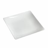 10 x  10 Fingerfood - Teller, PS eckig 1,3 cm x 11 cm x 11 cm weiss Fluid