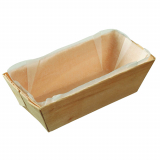 8 x  25 Fingerfood - Schalen, Holz 95 ml 3 cm x 10 cm x 4,5 cm