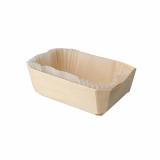 4 x  40 Fingerfood - Schalen, Holz 530 ml 5 cm x 14 cm x 9,5 cm