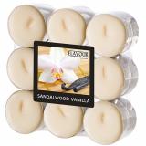 10 x  18 Flavour by GALA Duftlichte Ø 37,5 mm · 16,6 mm elfenbein - Sandalwood-Vanilla
