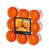 10 x  18 Flavour by GALA Duftlichte Ø 37,5 mm · 16,6 mm orange - Orange