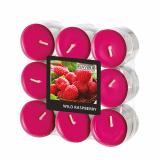 10 x  18 Flavour by GALA Duftlichte Ø 37,5 mm · 16,6 mm weinrot - Wild Raspberry