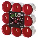 10 x  18 Flavour by GALA Duftlichte Ø 37,5 mm · 16,6 mm bordeaux - Cherry