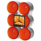 12 x  12 Flavour by GALA Maxi Duftlichte Ø 58 mm · 24 mm orange - Orange
